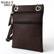 Mara's Dream Women PU leather messenger bags sling satchel crossbody shoulder bag tassel zipper vintage female mini small purse