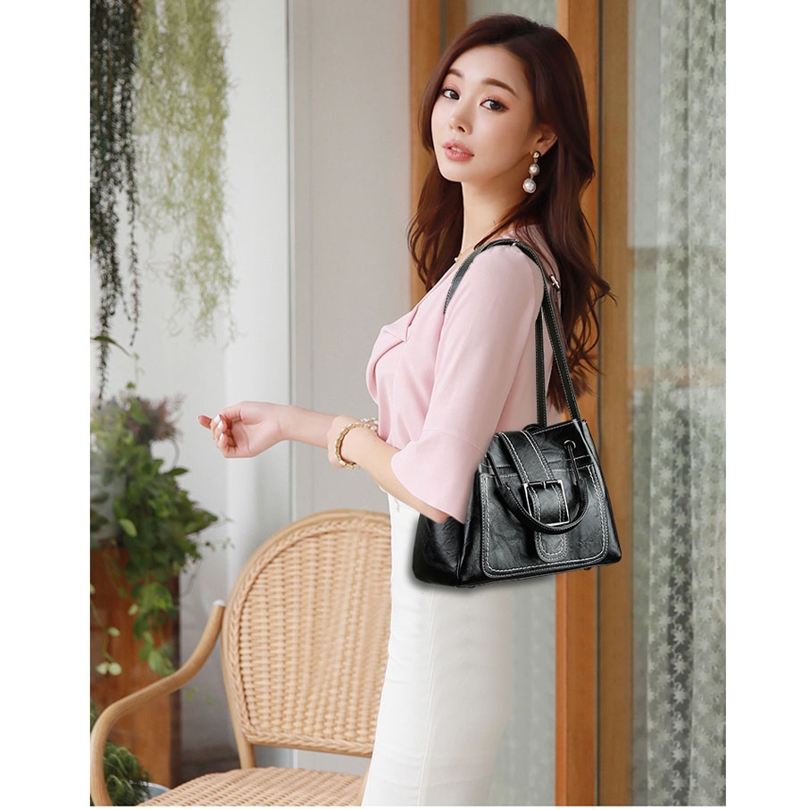 Black Di Donne Delle Brown Moda pink Elegante Vintage Borse Crossbody Spalla A light Semplice Ed Cinture wYY7t