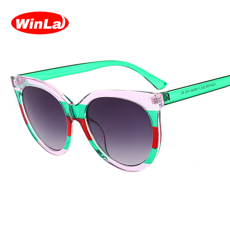 a92ccd12424 Image is loading Winla-Fashion-Design-Classic-Cat-Eye-Sunglasses-Women-