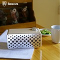 BASEUS Brand Forsic Series Stereo Sound Aluminum + Wood Wireless Bluetooth Speaker Portable Mini Speakers For iPhone /Samsung