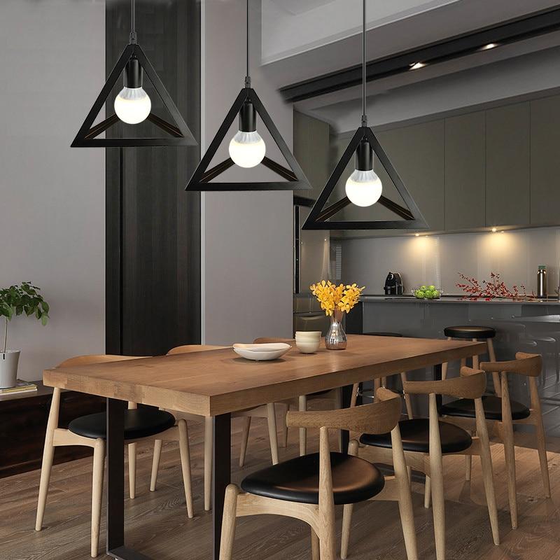IMINOVO Creative American Modern Minimalist Coffee Bar Lamp Three Dining Room Lights Nordic Retro Industrial Chandeliers In Pendant From