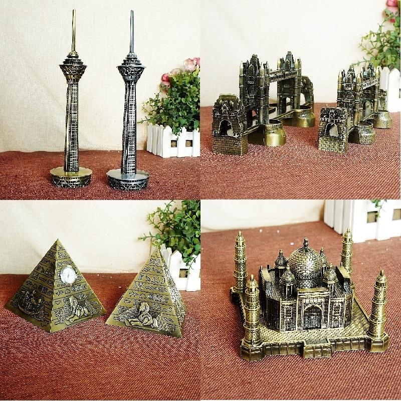 New Metal Handicrafts Iran Milad Tower Egyptian Pyramids Building model London Tower Bri ...