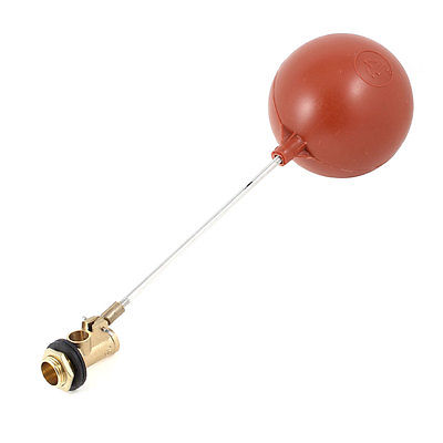 Aquarium Water Liquid Level Sensor Floating Ball 3/8 Diameter Red 1 2 built side inlet floating ball valve automatic water level control valve for water tank f water tank water tower