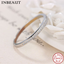 INBEAUT 925 Sterling Silver Clear Zircon Ring Women Trendy Cute Lovely Cocktail for Female Wedding Gift Fashion Jewelry