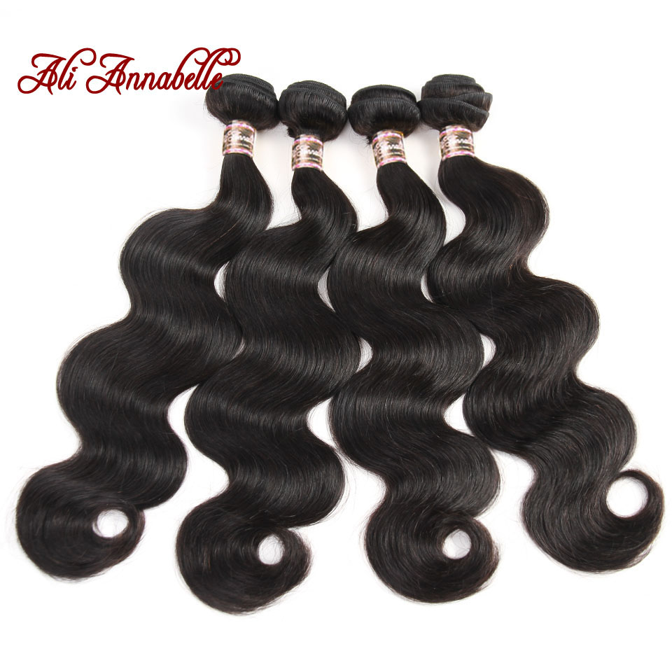 Ali Annabelle Hair Malaysian Body Wave 4 Bundles Deal 100 Human Hair Extensions Remy Hair Weave