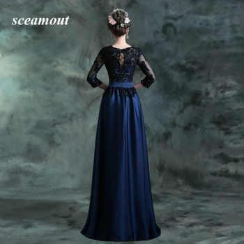 Vestido Festa Longo Cheap Lace Long Sleeve Blue Black Evening Dresses New Arrival Formal Dress Evening Gowns vestido de noite