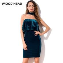 5d351cf7eadf55 WIOOD HOOFD Vrouwen Sexy Tube Top Volants Slanke Jurk 2018 Mode Zomer  Strapless Vrouwelijke Modellen Clubwear