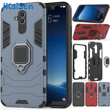 For Huawei P20 Mate 20 Lite Pro Case Armor Ring Magnetic Car Hold Shockproof Soft Bumper Cover For Honor Y9 2019 Enjoy Plus Case(China)