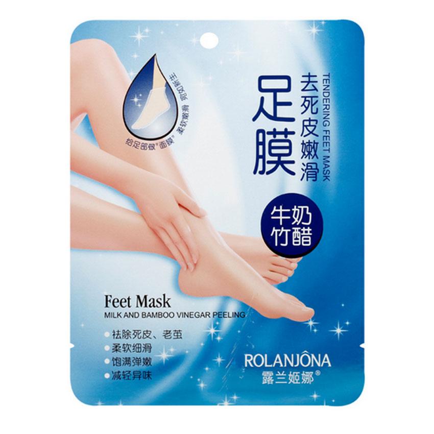 1 Pair=2 Pcs Peeling Exfoliating Foot Mask Milk Bamboo Vinegar Feet Mask Remove Dead Skin Cuticles Heel Foot Care Pedicure Tool