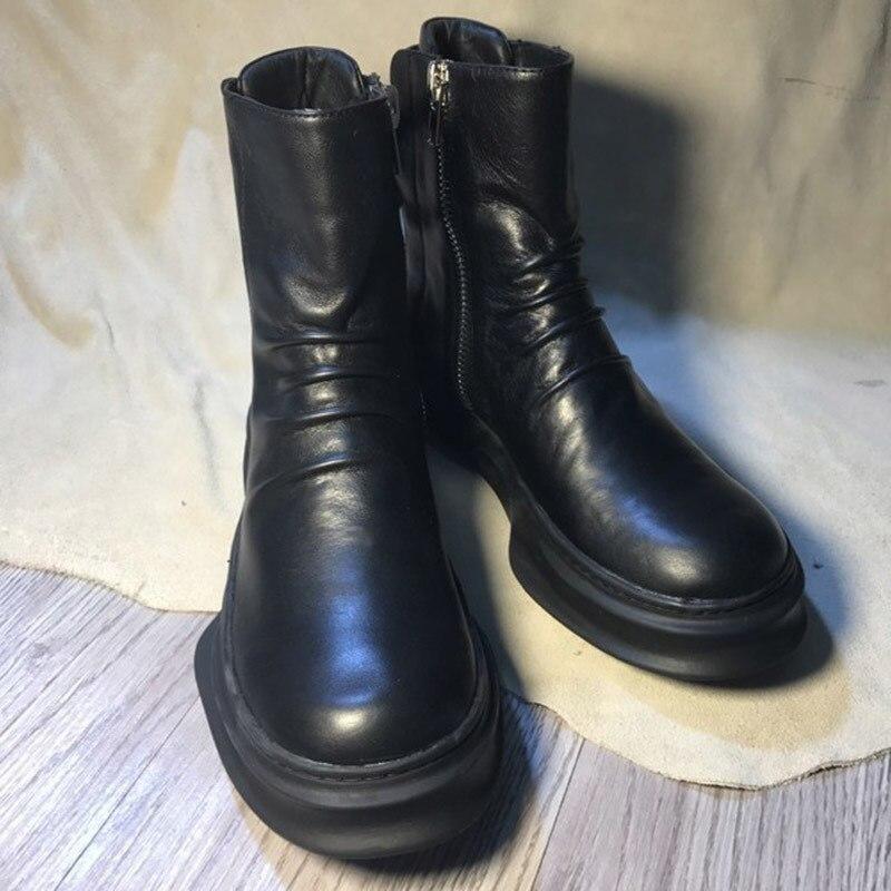 Nouveau mode rouge fonds or haut et métal orteil hommes velours chaussures décontractées hommes mocassins à la main grande taille hommes appartements livraison gratuite - 5