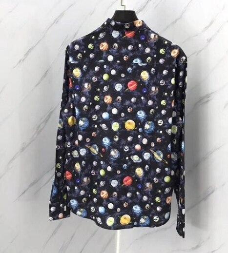 Marque Designer À Luxe Longues Vêtements Arrivée Galaxy Manches Vintage Mode Rétro Pour De Chemises Haut Hommes 19ss Nouvelle Célèbre n8IFxXq4
