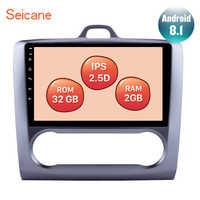 Haute Version RAM 2GB ROM 32GB 2.5D IPS écran Android 8.1 pour 2004 2005 2006-2011 Ford Focus Exi à 9 pouces voiture GPS Navi Radio