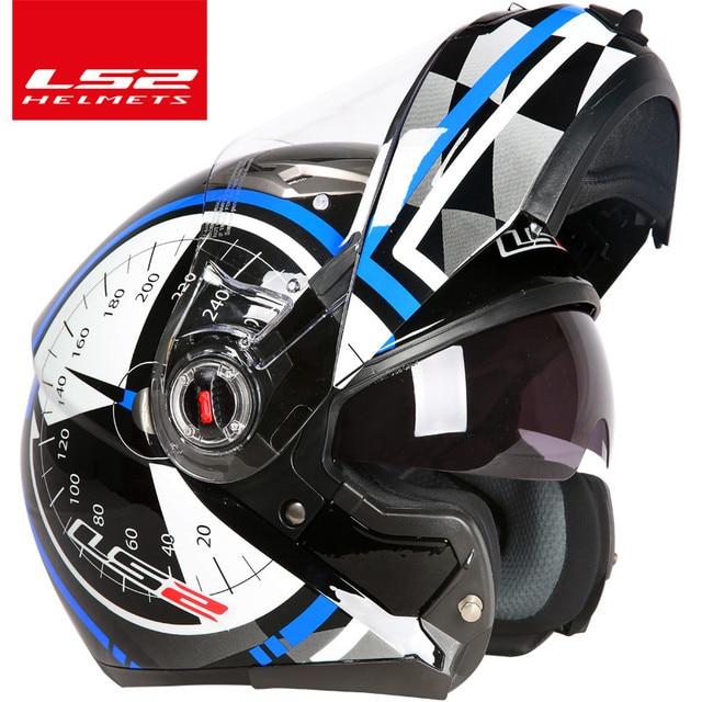 casco capacete LS2 ff370 flip up stomtrooper road bike moto helmet for motorcycle with sun shield lens 1