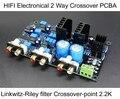 HIFI ClassA PCBA Electrónica 2 Way Crossover Crossover Linkwitz-riley filtros de Salida de $ Number Canales de Energía-punto 2.2 K Hz envío Gratis