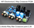 HIFI Electronical 2 Way Crossover PCBA ClassA Power Linkwitz-Riley filter 4-Channel Output Crossover-point 2.2K Hz Free Shipping