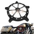 Preto CNC Alumínio Tampa Do Filtro De Ar Mais Limpo Para Harley Softail Dyna Touring Modelos Personalizados