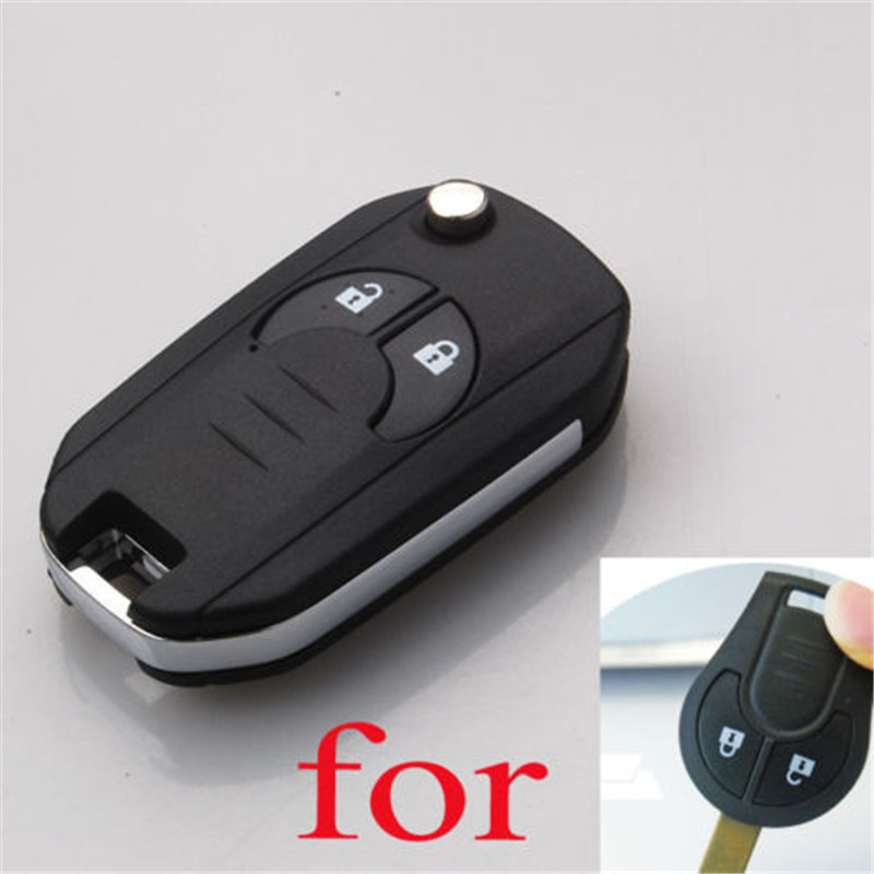 Car Flip Key Shell Key Case Cover Car Styling Protection Fit For Nissan Cube Micra Note Qashqai Juke Romote Fob Car Accessories