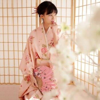 Mulheres Flor Fêmea Traje Vestido de Quimono Japonês Tradicional Japonesa para Palco Cosplay Senhoras Yukata Quimono Traje Feminino