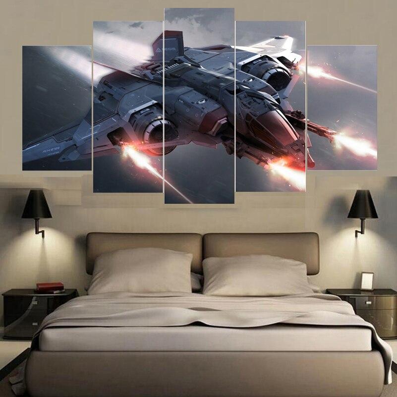 Фабрика эксклюзивная распродажа космический корабль картина маслом на холсте современного дома фотографии печатает Картины Гостиная детс...