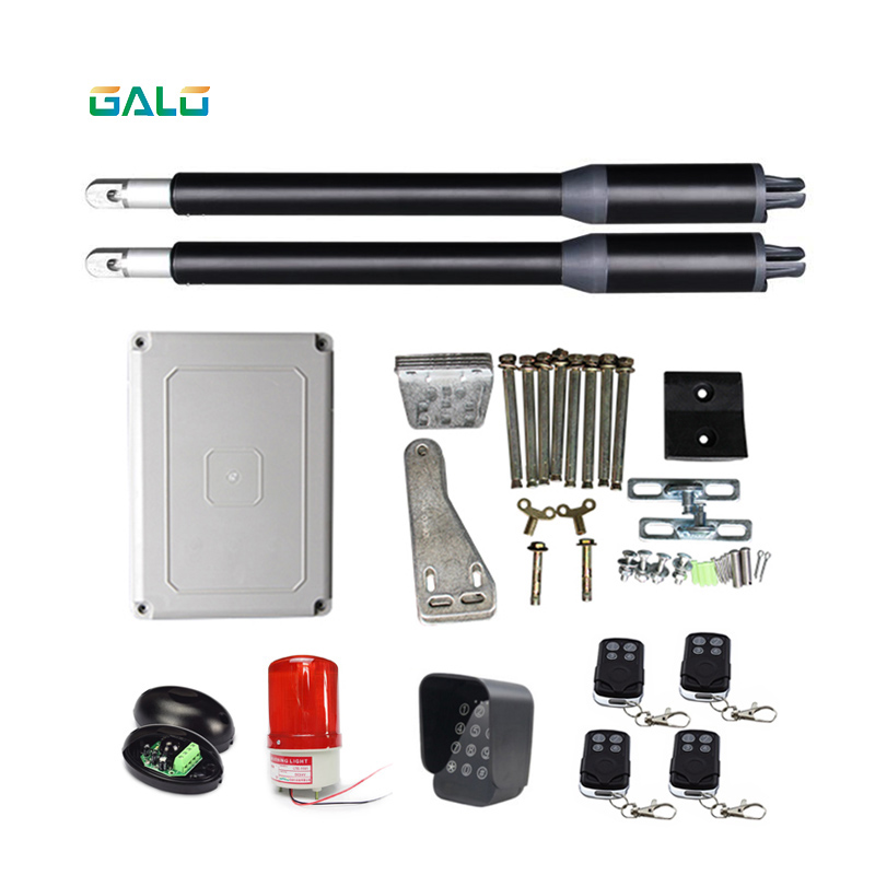 GALO gate opener dual automatic swing gate opener (photocell sensor ,4pcs remote controls ,RTU5024 and warning lamp Optional ) galo swing gate opener double waterproof dual home use automatic swing gate opener