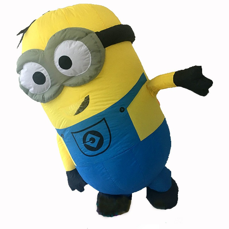 2017 New Minions Despicable Me Mascot Costume EPE Fancy Dress Outfit Adult