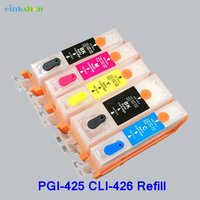 1 Set PGI 425 CLI 426 Refillable Ink Cartridge For Canon MG5240 MG5140 MG6140 MG8140 IP4840
