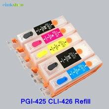 1 set PGI 425 CLI 426 refillable Ink cartridge for canon MG5240 MG5140 MG6140 MG8140 IP4840 MX884 IX6540 with ARC chip