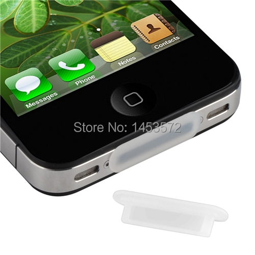 2in1 Clear Silicone Soft Dock Plug Cap Protector Cover For Apple iPhone 4G 4S 3G 3GS Gen iPod Touch