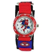 Spider man reloj grandes regalos para niño marvel super hero spiderman nylon correa del reloj del deporte 1 unids