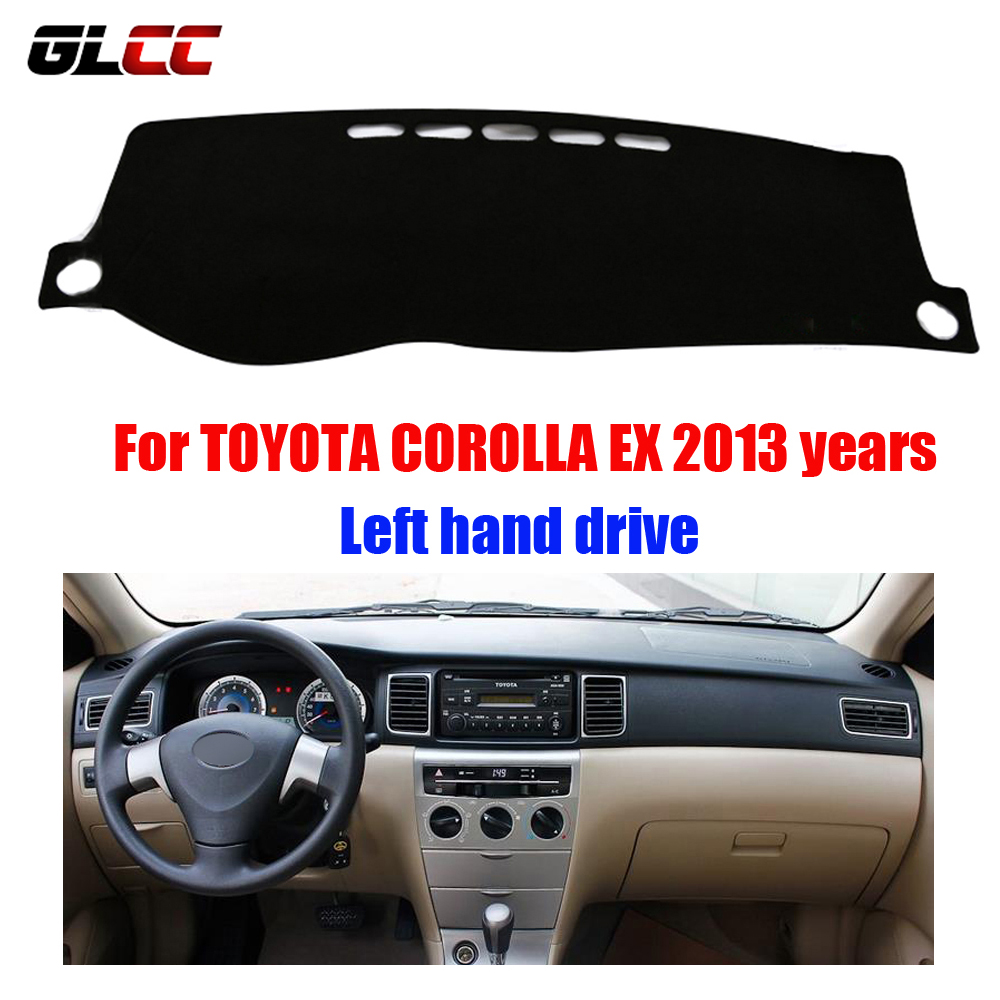 Car dashboard cover mat for toyota corolla ex 2013 years left hand drive dashmat pad dash
