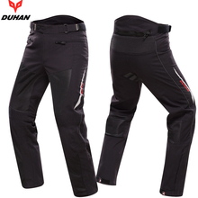 DUHAN Men's Motocross Off-Road Racing Pants Knee Protective Sports Pants Summer Breathable Motorcycle Enduro Riding Trousers