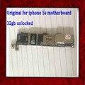 Com fichas completas originais desbloqueado 32 gb placa lógica para iphone 5s motherboard sem impressões digitais, bom trabalho & frete grátis