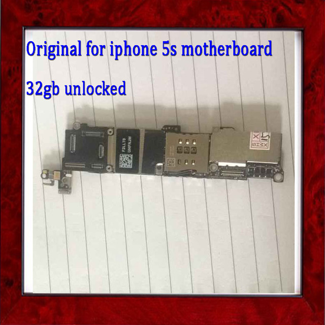 With Full Chips Original Unlocked 32gb Logic Board for iphone 5s Motherboard without Fingerprint,Good Working & Free Shipping