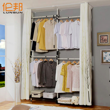 Easy folding steelframe overall cloth wardrobe combination storage rack wardrobe 314