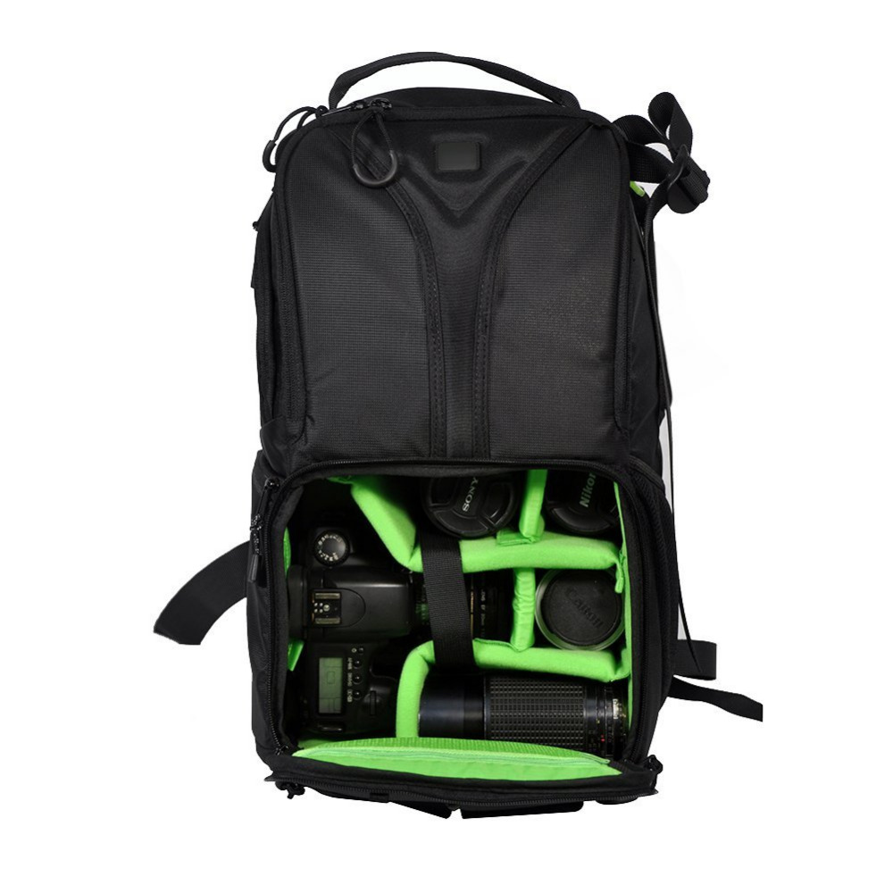 ФОТО Neewer Professional Full-functioned Waterproof Durable DSLR Camera/Lens/Accessories Carrying Backpack Case For Yongnuo Flash