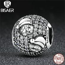 925 Sterling Silver Merry Christmas Santa Claus Beads Charms Fit Pandora Charms Bracelets & Bangles DIY Fine Jewelry Making Gift