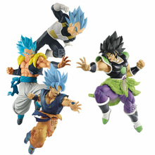 2019 Anime Dragon Ball Movie Super God DBZ Son Goku Vegeta Super Saiyan Blue Vegetto Pvc Action Figure Celloction Model Toys
