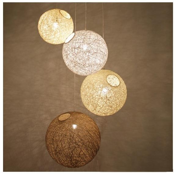 2014 lustre moderne br ve rotin balcon lampes suspensions balle 400 mm pour la maison moderne. Black Bedroom Furniture Sets. Home Design Ideas
