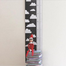INS Nordic Style Wall Hanging Height Ruler Canvas Baby Growth Chart Measure Kids Room Decoration Nursery Photography Props