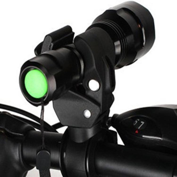 Bicycle Light Torch Cycling Light Clip On For Mountain Road MTB Bike Flashlight Handle Bar Handlebar Clip Mount Bracket Holder