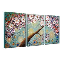 Abstract Art Paintings Oil Hand Painting 3D Hand Painted On Canvas Abstract Artwork Art 3 Panels