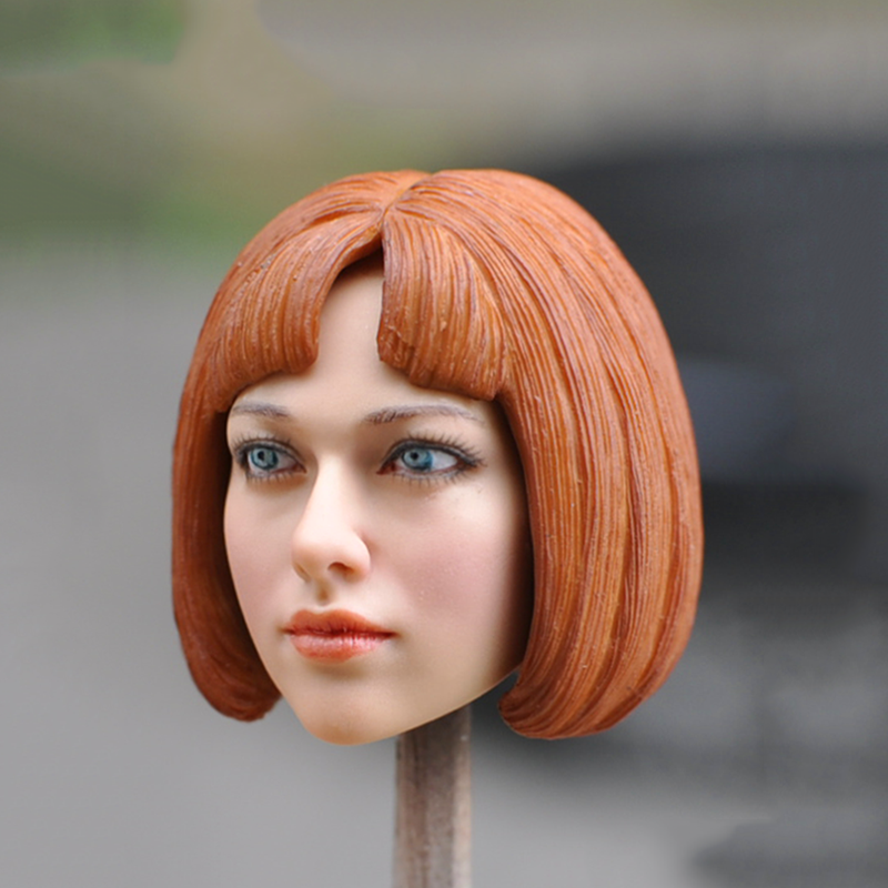 1/6 Scale Women Head Sculpt with Red Hair KM048-A for 12'' Feamle Action Figure Bodies 1 6 scale game of thrones action figure jon snow head sculpt with curly long hair for 12 male figures bodies