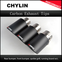 Inlet 63mm To Outlet 114mm Akrapovic Carbon Exhaust Tip Escape Akrapovic Muffler Tip