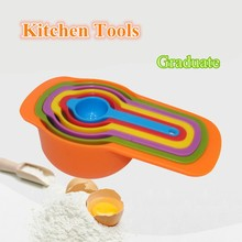 High quality New 6 colorful different size measuring spoon baking DIY essential tools cup kitchen tools counting baking utensils
