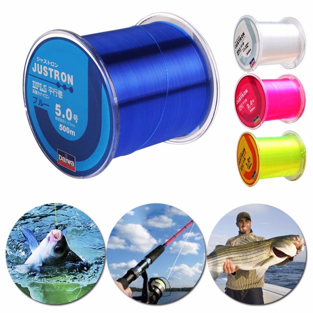 500M Nylon Fishing Line Transparent Monofilament Strong Durable Fishing Tackle