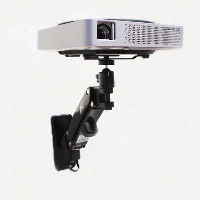 DL-F12PR, 2-7 кг, универсальная газовая пружина, газовая стойка, наклонный кронштейн для проектора, Потолочная стойка, алюминиевый сплав, поворот на 360 градусов - Цвет: black