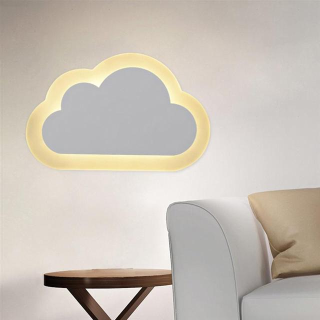 8W Modern LED Wall Lights Clouds Wall Sconce Lamp For Bedroom Study Room Foyer Acrylic Home Decoration Warm White and white