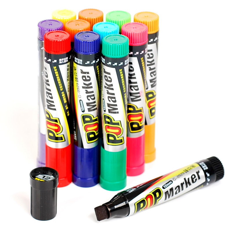 KNOW Art Marker 12 Colors/Set oily based ink Mark pen 6/12/20/30mm Marker Set Best For Manga Poster Advertising Supplies touchnew 60 colors artist dual head sketch markers for manga marker school drawing marker pen design supplies 5type