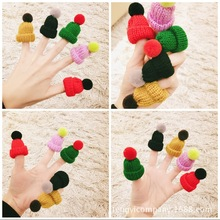 10pcs/lot Hand Craft Sweing Kawai Hair Ball Mini Wool Small Hat Brooch Clothing Accessories Jewelry Party Gifts