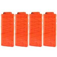 4 Pcs Weiche Kugel Clips Für Nerf N-strike Elite Serie 12 Kugeln Munition Patrone Dart für Nerf Kugel clips-Orange